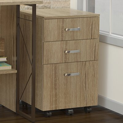 Soho 25.5 H x 15.75 W Desk File Pedestal Finish: Natural