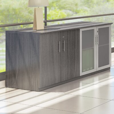 Medina Series Sideboard Finish: Gray Steel