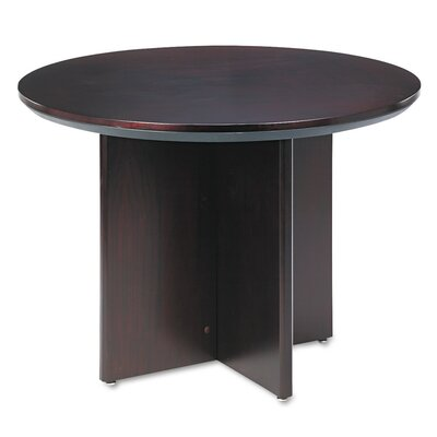 Corsica Series 3 6 Circular Conference Table Finish: Mahogany