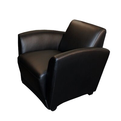 Santa Cruz Leather Mobile Lounge Chair Color: Black