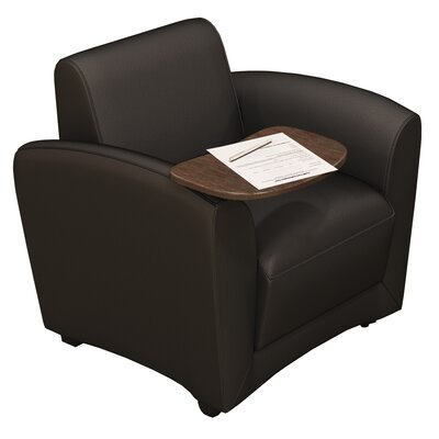 Lounge Series Santa Cruz Mobile Lounge Chair with Tablet Color: Black Product Image 2223