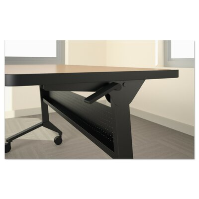 Flip-N-Go Table Base Table Base Size: 27.88 H x 46.88 W x 21.25 D, Table Base Finish: Silver