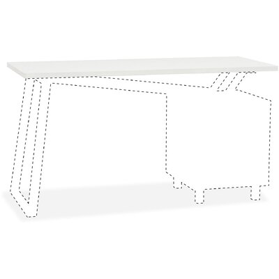0.3 H x 55 W Desk Top Finish: White