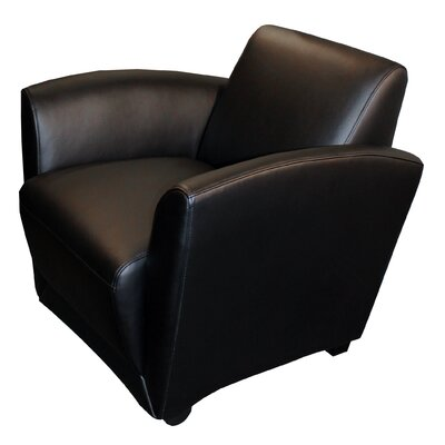Santa Cruz Mobile Leather Lounge Chair Finish: Black