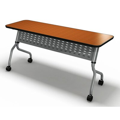 Sync Training Table with Modesty Panel Size: 29 H x 72 W x 18 D, Tabletop Finish: Cherry