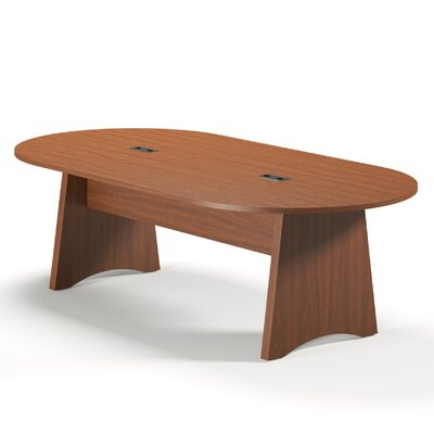 Brighton Series Oval Conference Table Finish: Cherry, Size: 8 L