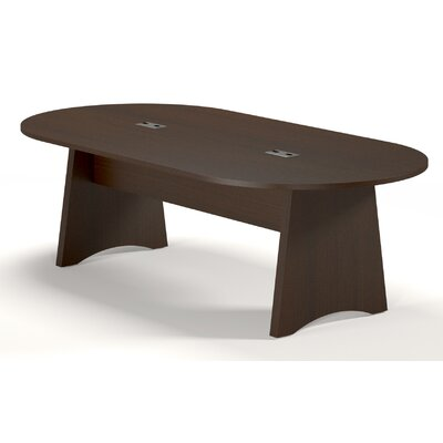 Brighton Series Oval Conference Table Finish: Mocha, Size: 8 L