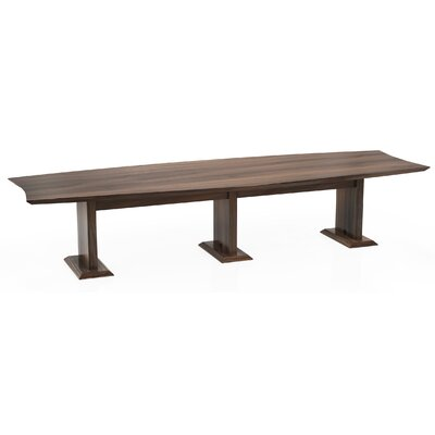 Sterling Boat Shaped Conference Table Finish: Textured Brown Sugar, Size: 29.5 H x 168 W x 48 D