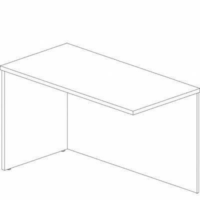 Mira Series 29.38 H x 48 W Reversible Desk Return Finish: Medium Cherry