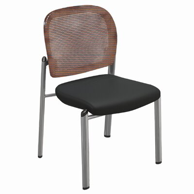 Bistro Series Valore Mid-Back Guest Chair Back Finish: Burgundy