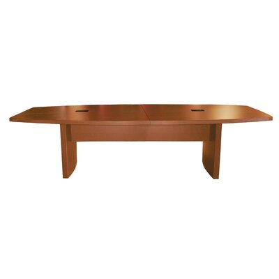 Aberdeen Series Boat Shaped Conference Table Finish: Mocha, Size: 18 L