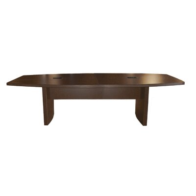 Gilberton Boat Shaped Conference Table Finish: Mocha, Size: 8 L
