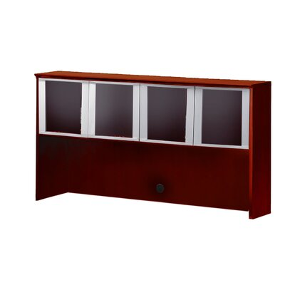 Corsica Series 38.5 H x 72 W Glass Door Desk Hutch Finish: Sierra Cherry Product Image 1029