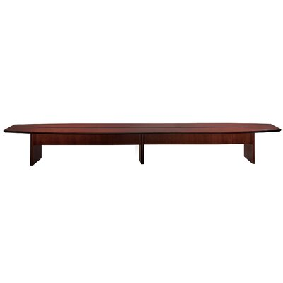 Corsica Series Boat Shaped Conference Table Finish: Mahogany, Size: 20 L