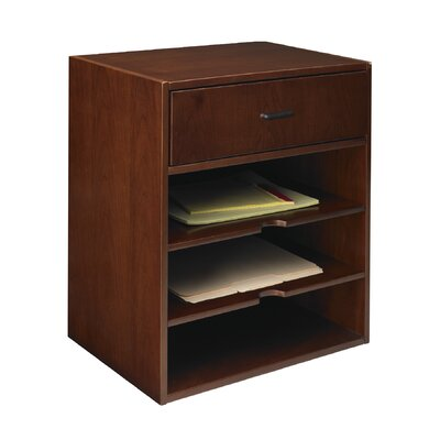 Sorrento 17.5 W Desk File Pedestal Finish: Bourbon Cherry