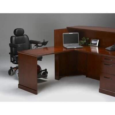 Sorrento Series 45 H x 72 W Reception Station Finish: Bourbon Cherry Veneer, Orientation: Left