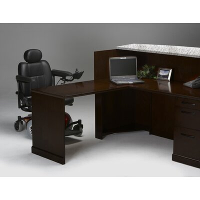 Sorrento Series 45 H x 72 W Reception Station Finish: Espresso Veneer, Orientation: Right