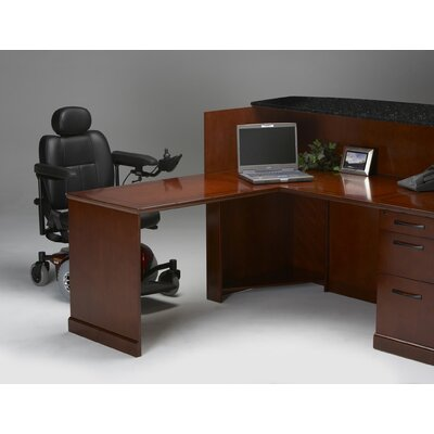 Sorrento Series 45 H x 72 W Reception Station Finish: Bourbon Cherry Veneer, Orientation: Right