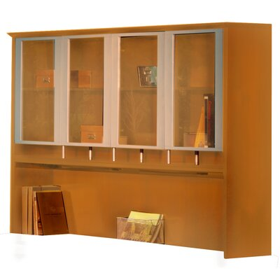 Napoli 50.5 H Desk Hutch Finish: Golden Cherry Veneer, Size: 50.5 H x 63 W x 15 D
