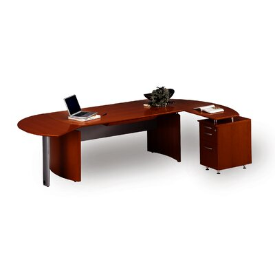 Napoli 72 W Right Desk Return Finish: Sierra Cherry with Cherry Veneer