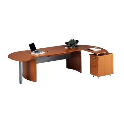 Napoli 72 W Right Desk Return Finish: Golden Cherry with Beech Veneer