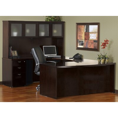 Mira Series U-Shape Executive Desk Finish: Espresso, Number of Drawers: 3 Product Picture 1601