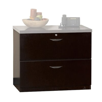 Mira 27.75 H x 34.63 W Desk File Pedestal Finish: Espresso