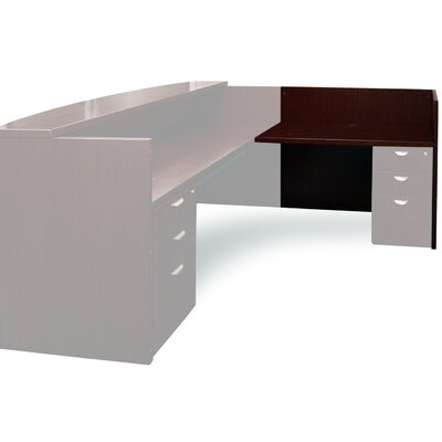 Mira Series 29.38 H x 48 W Right Desk Return Finish: Espresso