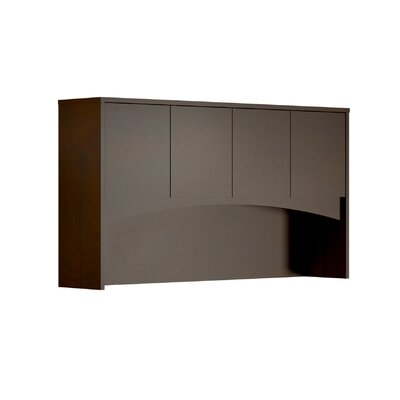 Brighton Series 39.5 H Desk Hutch Finish: Mocha, Size: 39.5 H x 72 W x 15 D