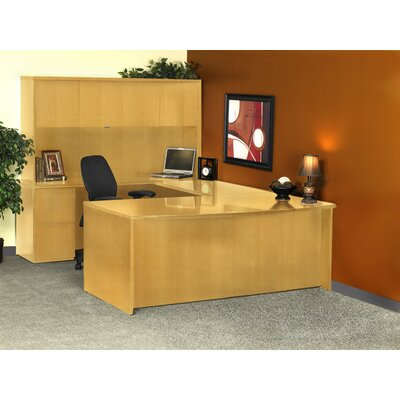 Luminary Series U-Shape Executive Desk with Hutch Finish: Maple Product Picture 851