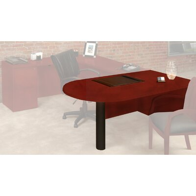 Luminary Series 29 H x 72 W Desk Peninsula Finish: Cherry