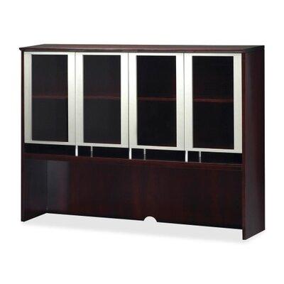 Napoli 50.5 H Desk Hutch Finish: Mahogany Veneer, Size: 50.5 H x 63 W x 15 D