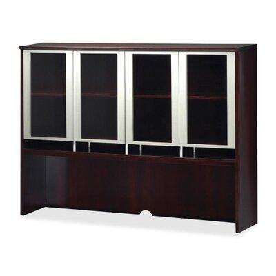 Napoli 50.5 H Desk Hutch Finish: Mahogany Veneer, Size: 50.5 H x 72 W x 15 D