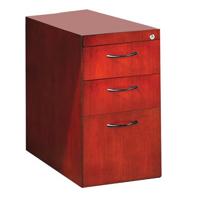 Corsica 27 H x 15.25 W Desk File Pedestal Finish: Sierra Cherry, Size: 27 H x 15.25 W x 18 D