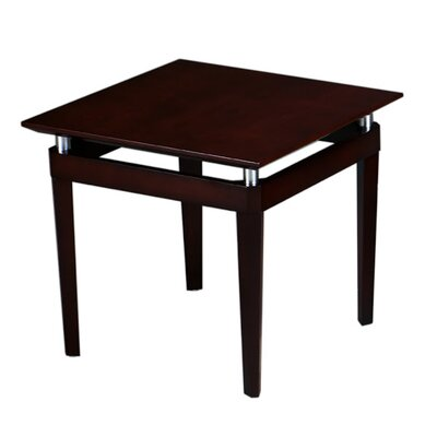 Napoli Series End Table Color: Mahogany Veneer