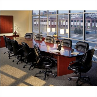 Mayline 20' Corsica Boat-Shaped Conference Table - Finish: Sierra Cherry