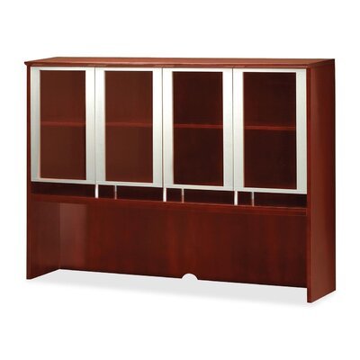 Napoli 50.5 H Desk Hutch Finish: Sierra Cherry Veneer, Size: 50.5 H x 63 W x 15 D