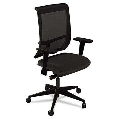 Commute High-Back Mesh Task Chair with Arms Finish: Origin Jet Product Image 4