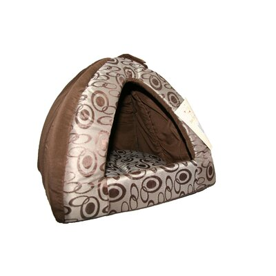 Swirl Tent Dog Dome Color: Brown