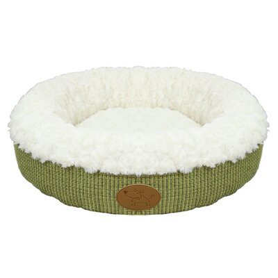 Curl Plush Doughnut Dog Bed (Set of 10) Color: Lime
