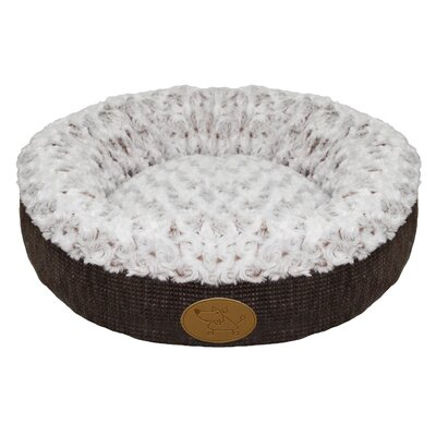 Curl Plush Doughnut Dog Bed (Set of 10) Color: Brown