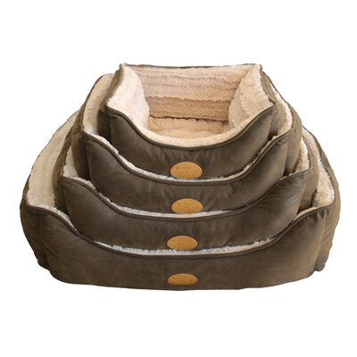 Faux Leather Square Dog Bed (Set of 6) Size: Large - 26 L x 24 W