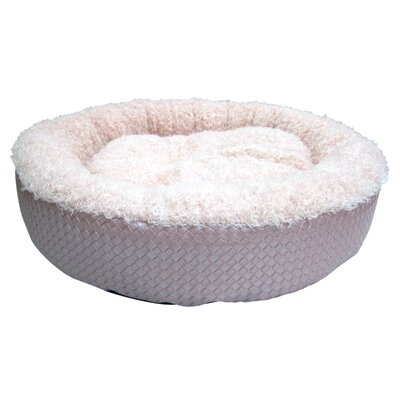 Faux Leather Round Dog Bed (Set of 6) Size: Small - 20 L x 20 W
