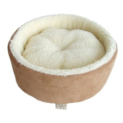 Round Nest Dog Bed Color: Light Brown