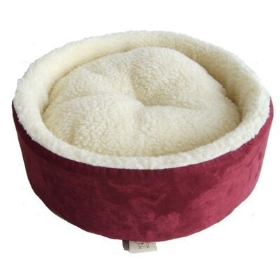 Round Nest Dog Bed Color: Burgundy