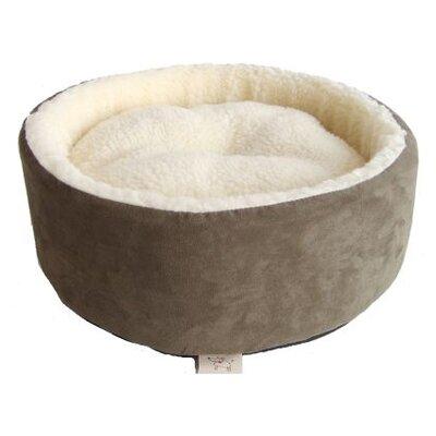 Round Nest Dog Bed Color: Olive Green