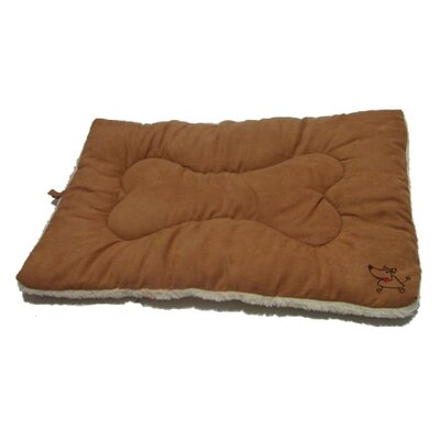 "Crate Dog Mat Size: Medium (30"" L x 19"" W), Color: Light Brown"
