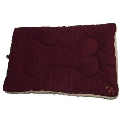 "Crate Dog Mat Size: Large (36"" L x 23"" W), Color: Burgundy"