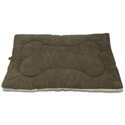 "Crate Dog Mat Size: Small (24"" L x 17"" W), Color: Olive Green"