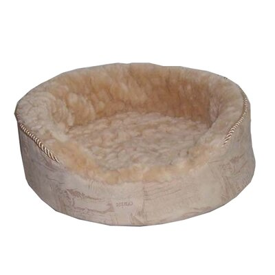 "Plush Bolster Dog Bed Size: Medium (22"" L x 16"" W), Color: Dark Brown"